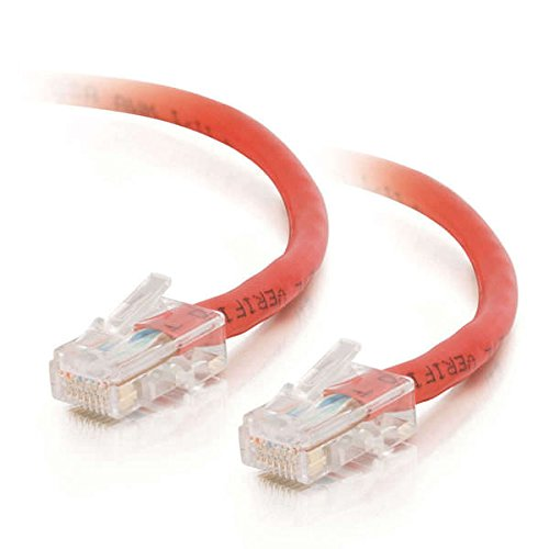 C2G 24510 Cat5e Crossover Cable - Non-Booted Unshielded Network Patch Cable, Red (7 Feet, 2.13 Meters)