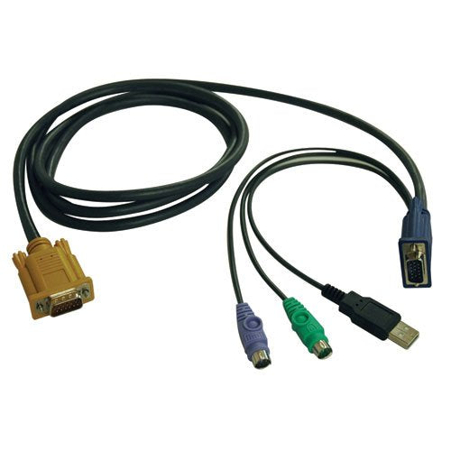 Tripp Lite P778-010 10 Feet USB/PS2 Combo Cable for Select KVM (Black)