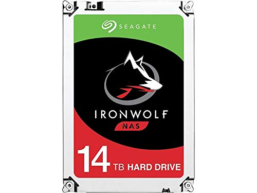 Seagate IronWolf 14TB NAS Internal Hard Drive HDD - 3.5 Inch SATA 6Gb/s 7200 RPM 256MB Cache for RAID Network Attached Storage (ST14000VN0008)