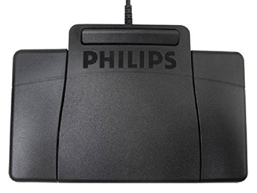 Philips LFH2310 USB Foot Control 3-Pedal Philips-Style Foot Control for Digital Systems
