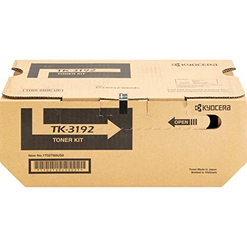 Kyocera 1T02T60US0 Model TK-3192 Black Toner Cartridge Compatible with ECOSYS P3060dn Monochrome Printers, Genuine Kyocera, Up to 25000 Pages Yield