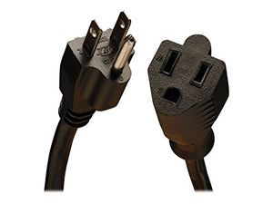 TRIPP LITE Heavy-Duty Power Extension Cord 15A, 14AWG 10', Black
