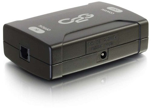 C2G 40019 Optical to Coaxial Digital Audio Converter, TAA Compliant, Black