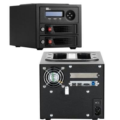 RTX220-3QR, 2-BAY TRAYFREE DRIVE ENCLOSU