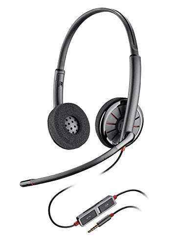 Plantronics 205204-02 Blackwire C225 Stereo Headset with Noise Canceling Microphone