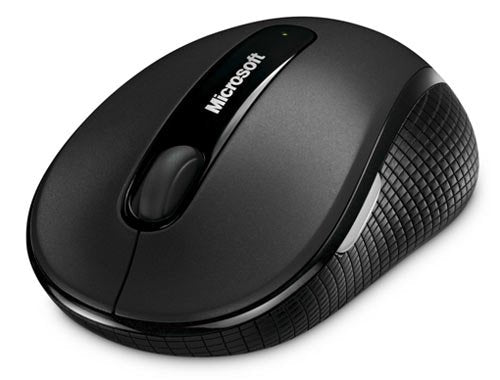 Used Microsoft Wireless Mobile Mouse 4000 for Mac/Win USB BlueTrack EF EN/XC/FR/EL/IW/IT/PT/ES - Graphite (D5D-00003)