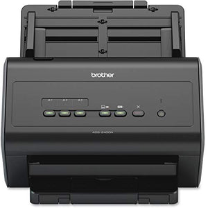 Brother ADS-2400N High-Speed Document Scanner, Wireless, PC Connected & Network, Desktop, Sheet-fed and Duplex Scanning, Includes Professional Software