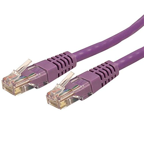 StarTech.com 25-Feet Molded RJ45 UTP Gigabit Cat6 Patch Cable, Purple (C6PATCH25PL)