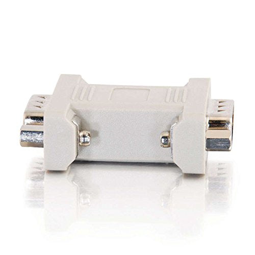 C2G 02771 DB9 M/M Serial RS232 Gender Changer/Coupler, Beige