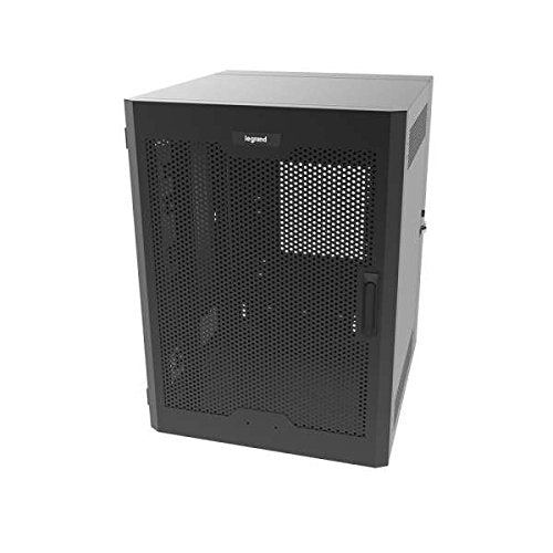 C2G 26RU Swing-Out Wall-Mount Cabinet with Perforated Door, Black (SWM26RUPD-26-26)