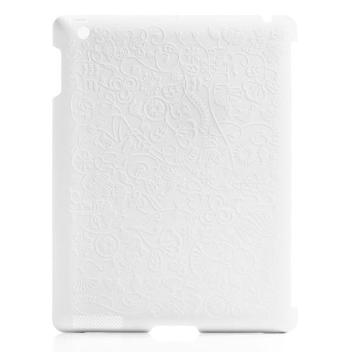 Blue Lounge Design Shell Flower Hard Case for iPad 2 (SL-2F-WH)