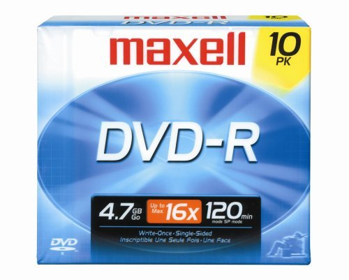 Maxell 638004 4.7Gb Dvd-R 10Mm Jewelcase