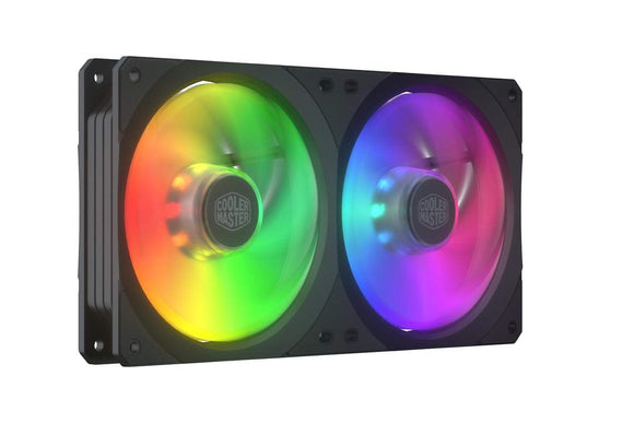 Cooler Master MasterFan SF240R ARGB 240mm Addressable ARGB Square Framed Fan with 18 Independently