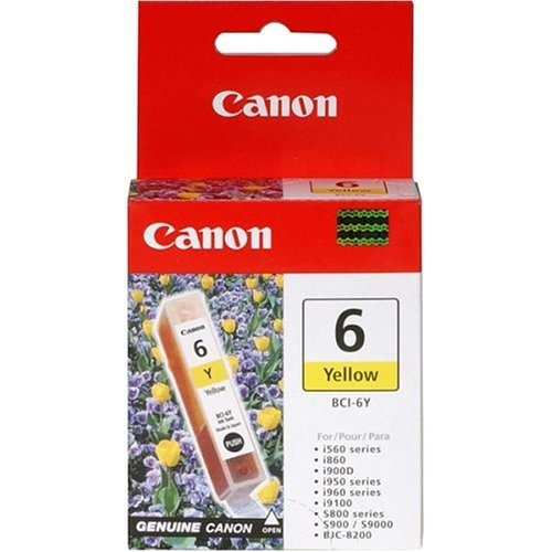 Genuine Canon BCI-6Y Ink Tank, Yellow - 4708A003