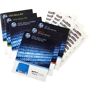 HP LTO-6 Ultrium RW Bar Code Label Pack