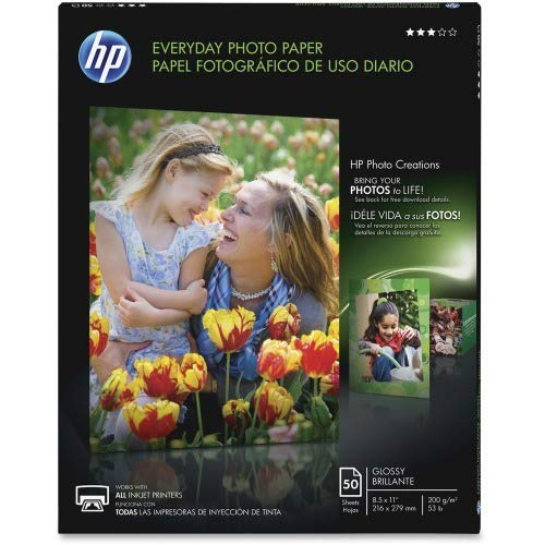 Hewlett Packard (HP) Q8723A Glossy Everyday Photo Paper (8.5