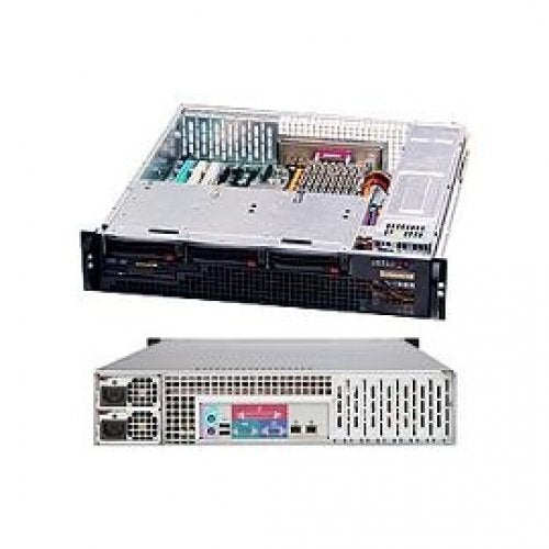 Supermicro Case Rackmount 2U Short Depth Chassis Redundant PSU 700W Low Profile Rear I/O Front4SATA/SAS Retail CSE-825MTQ-R700LPB-DIST