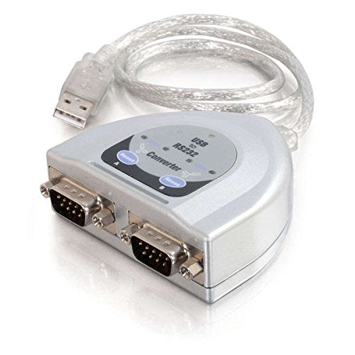 C2G 26478 USB to 2-Port DB9 Serial RS232 Adapter Cable, TAA Compliant (2 Feet, 0.60 Meters)