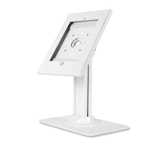SIIG Security Lockable Countertop Kiosk & Tilting Adjustable Metal POS Stand for iPad (2/3/4/Air/Air2/Gen5/Gen6) - CE-MT2611-S1