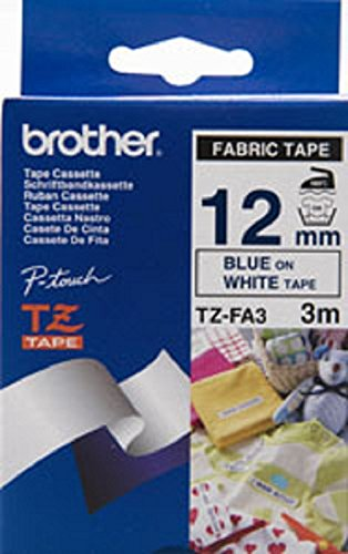 Brother 12mm Navy Blue White Fabric Iron on Tape