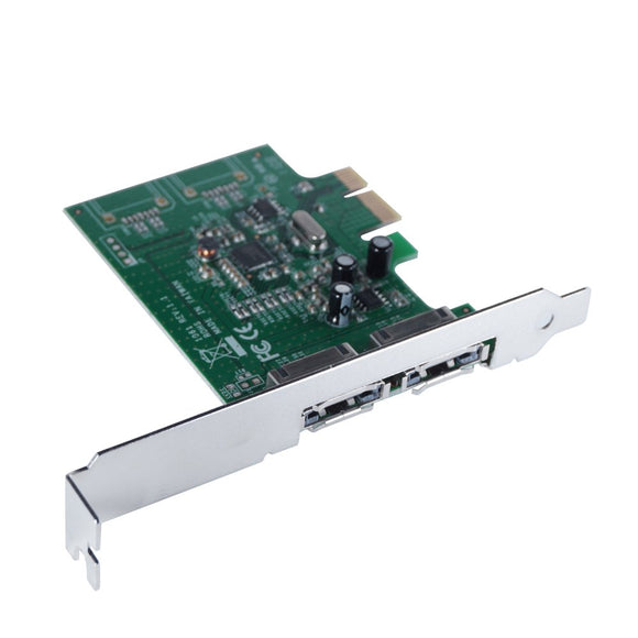 Mediasonic ProBox 2 Port External SATA 3 / III 6.0 Gbps PCI Express Card HP1-SS3