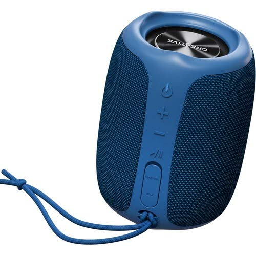 Creative Muvo Play Portable Bluetooth 5.0 Speaker, IPX7 Waterproof for Outdoors, Up to 10 Hours of Battery Life, with Siri and Google Assistant (Blue)