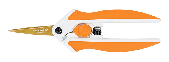 Fiskars 8 Inch Titanium Easy Action Scissors, Orange/White