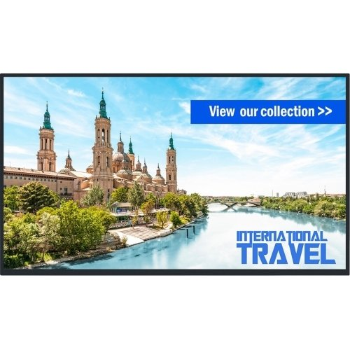 LCD Display - 43 INCH - 1920 X 1080-450 CD/M2 (TYP) - 1100:1 (TYP); 50000:1 (Dynamic) - 12 MS - HDMI, DVI-D, RJ45, USB - Black