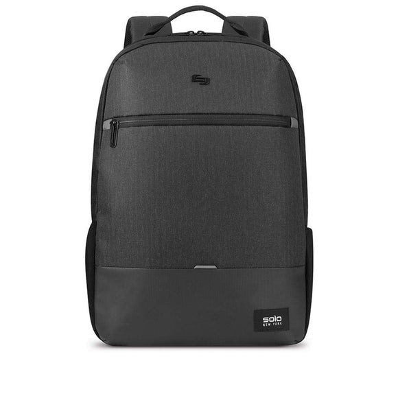 Solo New York Gravity A/D Backpack for Women and Men. Fits up to 15.6 inch Laptop and Notebook Perfect for Business, Travel, School and College-Black