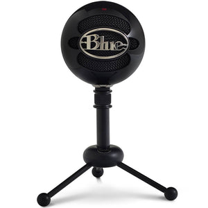 Blue Snowball USB Microphone - Gloss Black - 2 Capsule Design - Mac and PC Compatible - USB - 3 Pickup Options - 40Hz - 18kHz