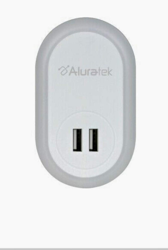 ALURATEK - USB LED Night Light w/Dual USB Charging