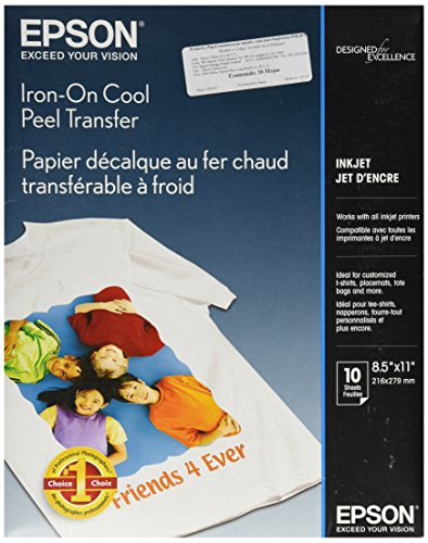 Epson S041153 Iron-On Transfer Paper, Letter Size, 10 Sheets Ink