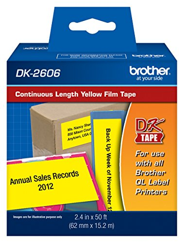 Brother DK-2606 Continuous Length Paper Label Roll (Black/Yellow)