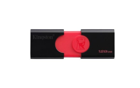 Kingston Digital DT106/128GB USB 3.0 DataTraveler 106 Flash Drive Type-A USB Memory Stick Backwards Compatible with 2.0 USB up to 130 MB/s