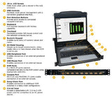 TRIPP LITE 8-Port Rackmount Console KVM Switch Steel with 17-Inch LCD Screen, Touchpad and Keyboard 1URM (B020-008-17)
