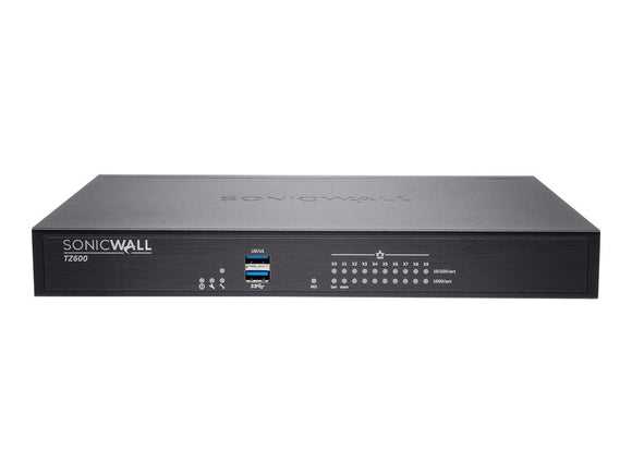 SonicWALL TZ600 Security Appliance, Black (01-SSC-3043)
