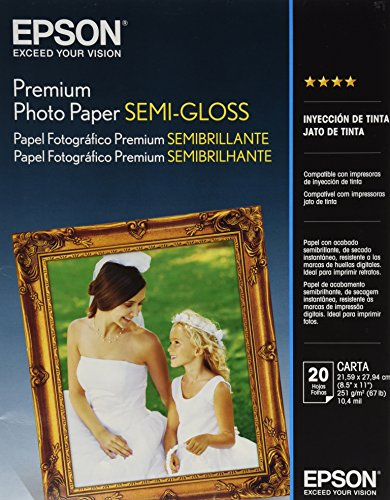 20sht 8.5x11 LTR Photo Quality Only Semi Gloss Paper
