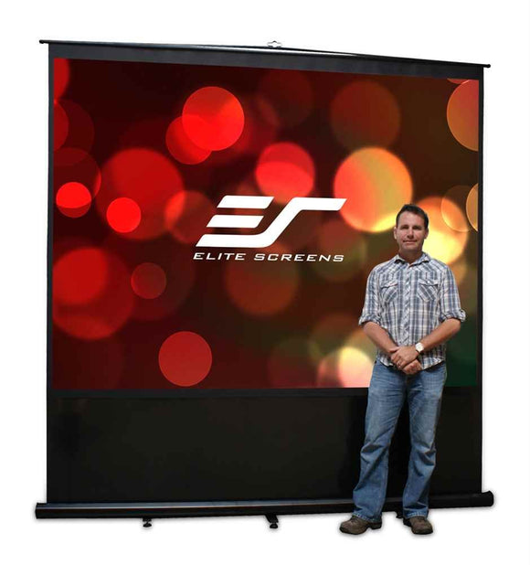 Elite Screens FM100V Reflexion Floor Pull Up Projection Screen, 100-Inch Diag 4:3. Viewing 60-Inch H x 80-Inch W