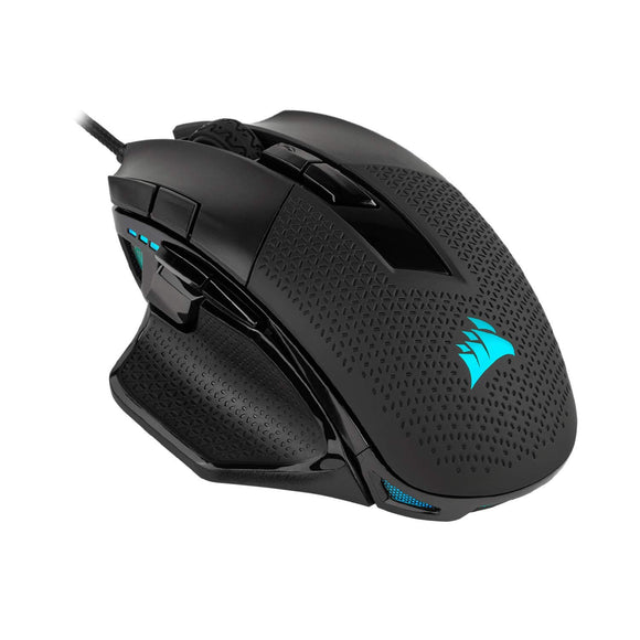 Corsair Nightsword RGB, Performance Tunable FPS/MOBA Gaming Mouse, Black, Backlit RGB LED, 18000 DPI, Optical