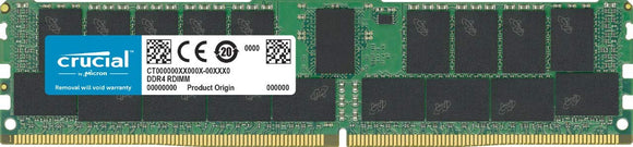 Crucial DDR4-2933 32GB/4Gx72 ECC/Reg CL21 Server Memory CT32G4RFD4293