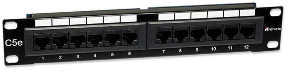 Cat5e Patch Panel - 10, 1u, 12 port