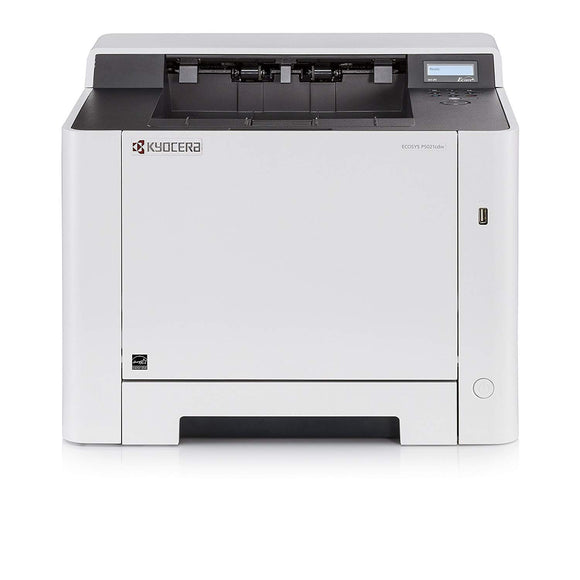Open Box Kyocera KYOP5021CDW Color Laser Printer Net, Dup & Wi-Fi 22 PPM - 300 Sheet