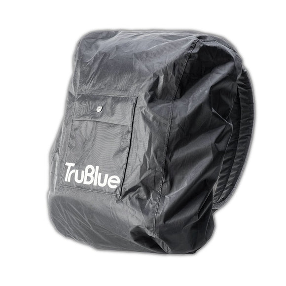 TruBlue Universal Rain Cover for Backpacks - with Outside Pocket & - Reflective Logo - Measures 30 X 50 X 20cm - Black