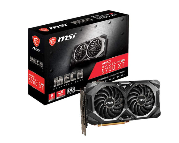 MSI Gaming Radeon Rx 5700 Xt Boost Clock: 1925 MHz 256-bit 8GB GDDR6 DP/HDMI Dual Fans Crossfire Freesync Navi Architecture Graphics Card (RX 5700 Xt Mech OC)