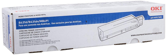 Okidata 44917601 B431 MB491 Toner Cartridge (Black)