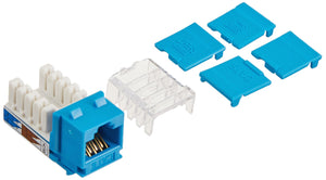 C2G 29316 Cat6 RJ45 Unshielded Keystone Jack, Blue
