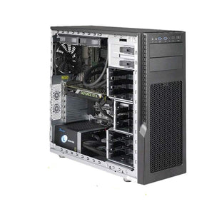 SuperMicro Superworkstation 5039AD-I - MDT - No CPU - 0 GB, Black