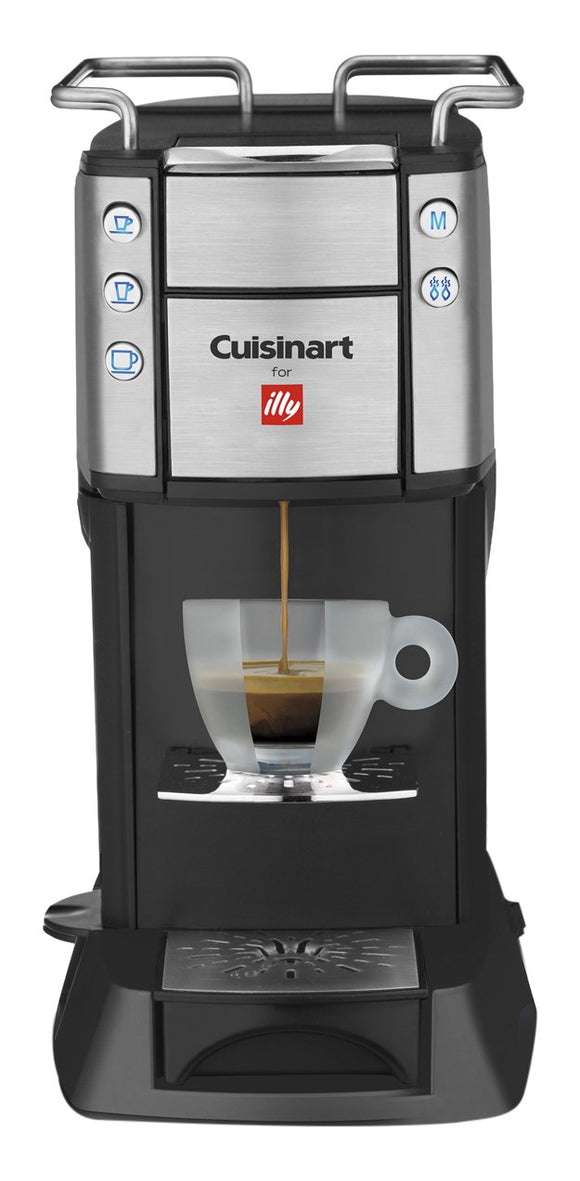 Refurbished CUISINART for Illy Single Serve Espresso and Coffee Machine, EM-400C, Black/Silver