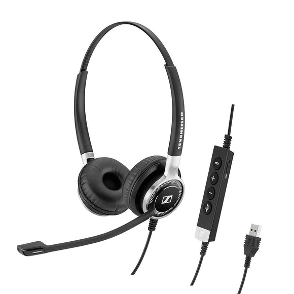 SENNHEISER SC 660 ANC USB (508311) - Double-Sided (Binaural) Business Headset | for Skype for Business | with HD Sound, Active Noise Cancellation Microphone, USB Connector (Black)