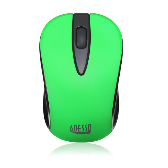 Adesso Ergonomic iMouse S70 - Wireless Optical Neon Mouse (Green)